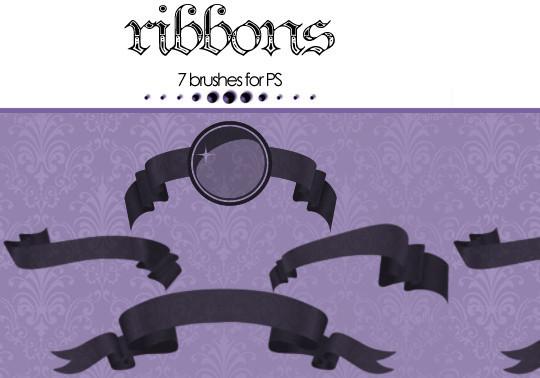 45 Awesome Swirl And Ribbon Photoshop Brushes 25