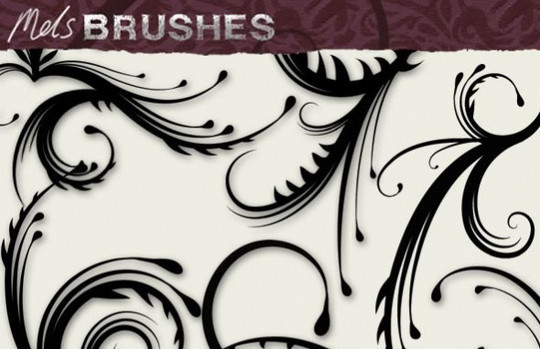 45 Awesome Swirl And Ribbon Photoshop Brushes 31