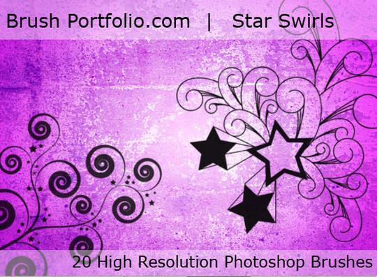 45 Awesome Swirl And Ribbon Photoshop Brushes 28