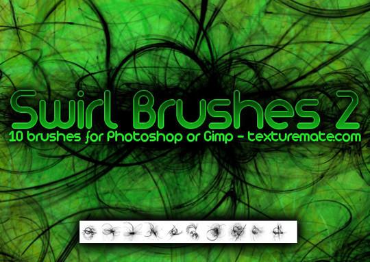 45 Awesome Swirl And Ribbon Photoshop Brushes 37