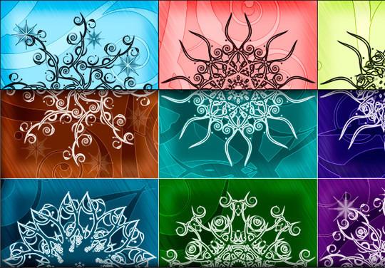 45 Awesome Swirl And Ribbon Photoshop Brushes 29