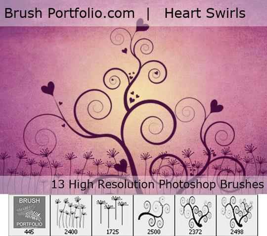 45 Awesome Swirl And Ribbon Photoshop Brushes 43