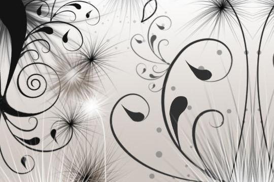 45 Awesome Swirl And Ribbon Photoshop Brushes 44