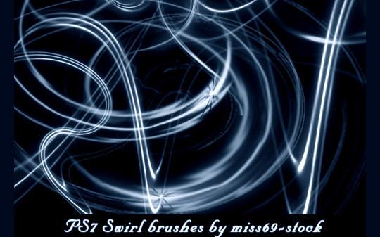 45 Awesome Swirl And Ribbon Photoshop Brushes 46