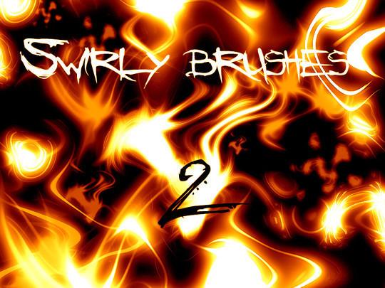 45 Awesome Swirl And Ribbon Photoshop Brushes 39