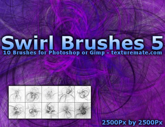 45 Awesome Swirl And Ribbon Photoshop Brushes 66