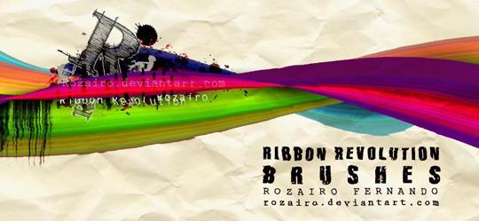45 Awesome Swirl And Ribbon Photoshop Brushes 13
