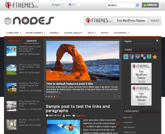 40 Beautiful 3 Column WordPress Themes For Free Download 13