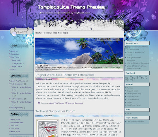 40 Beautiful 3 Column WordPress Themes For Free Download 5