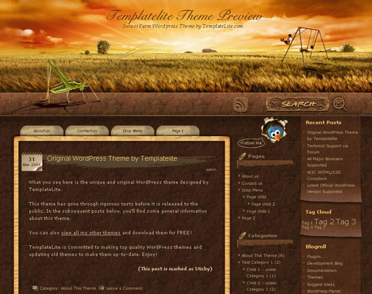 40 Beautiful 3 Column WordPress Themes For Free Download 6