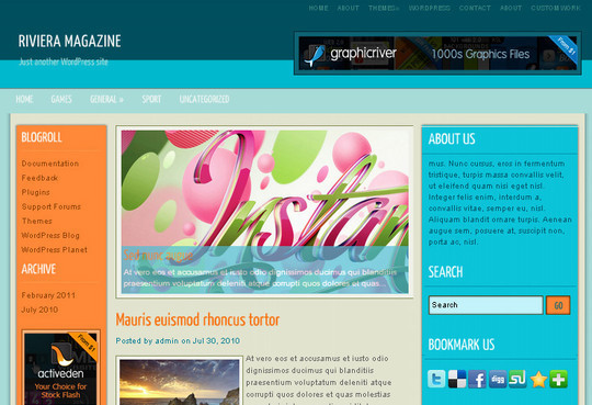 40 Beautiful 3 Column WordPress Themes For Free Download 36
