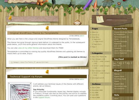 40 Beautiful 3 Column WordPress Themes For Free Download 38