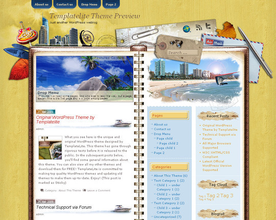 40 Beautiful 3 Column WordPress Themes For Free Download 8