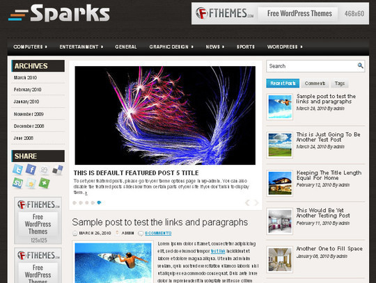 40 Beautiful 3 Column WordPress Themes For Free Download 4