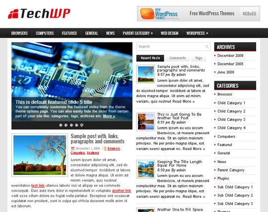 40 Beautiful 3 Column WordPress Themes For Free Download 41