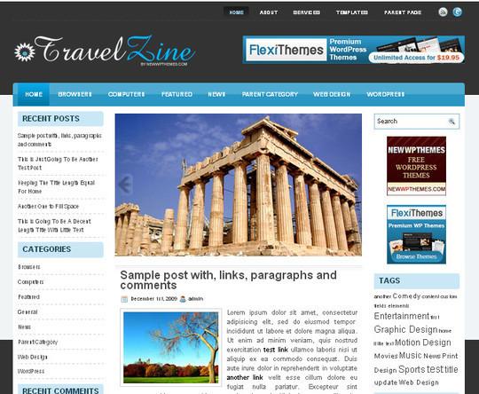 40 Beautiful 3 Column WordPress Themes For Free Download 1