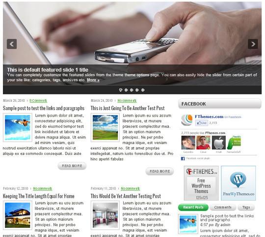 40 Beautiful 3 Column WordPress Themes For Free Download 2