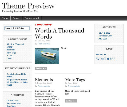 40 Beautiful 3 Column WordPress Themes For Free Download 12