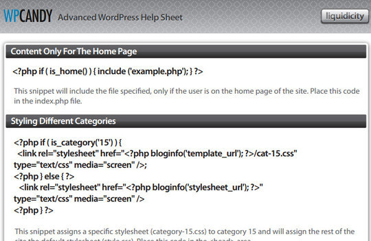 17 Useful WordPress Cheat sheets 13