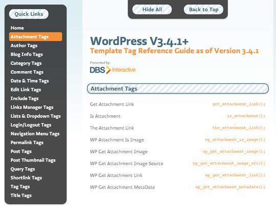 17 Useful WordPress Cheat sheets 3