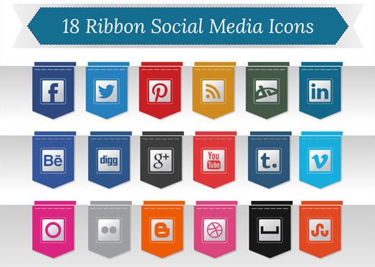 22 Fresh Social Media Icons (PSD & PNG) 11