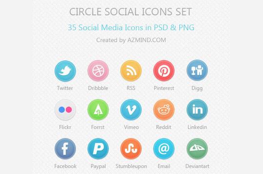 22 Fresh Social Media Icons (PSD & PNG) 12