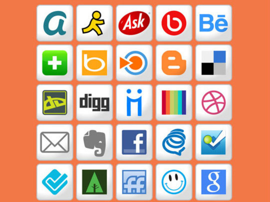 22 Fresh Social Media Icons (PSD & PNG) 16