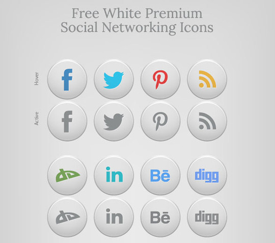 22 Fresh Social Media Icons (PSD & PNG) 17