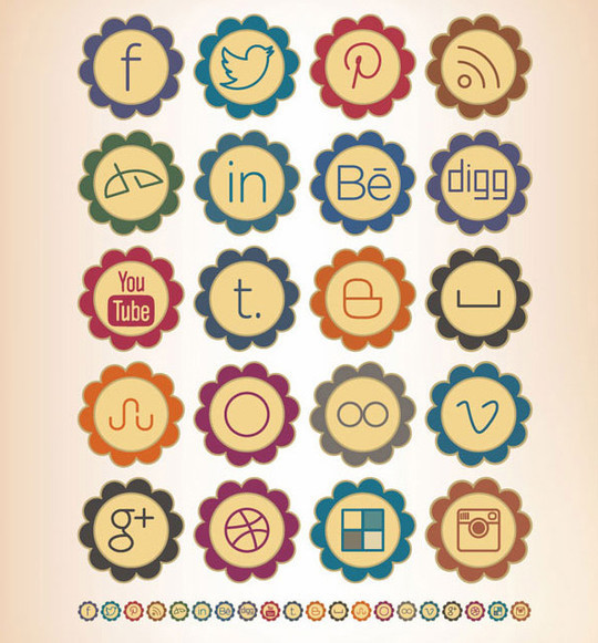 22 Fresh Social Media Icons (PSD & PNG) 19