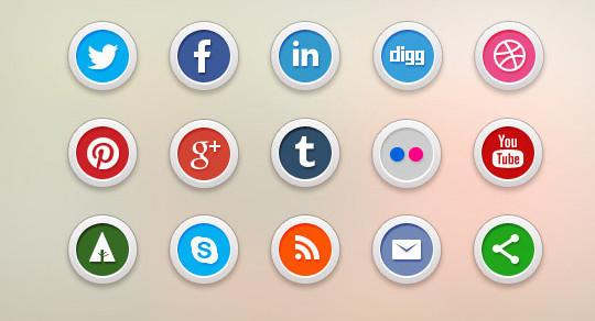 22 Fresh Social Media Icons (PSD & PNG) 21