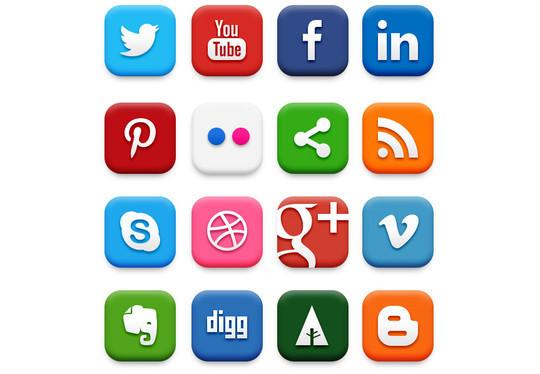 22 Fresh Social Media Icons (PSD & PNG) 22
