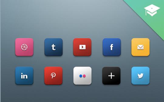 22 Fresh Social Media Icons (PSD & PNG) 18