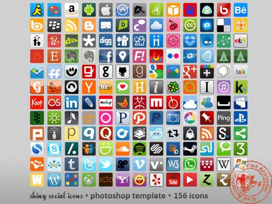 22 Fresh Social Media Icons (PSD & PNG) 15