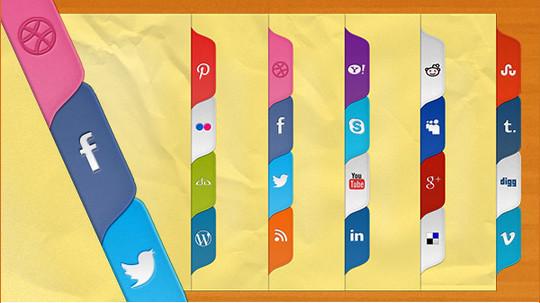 22 Fresh Social Media Icons (PSD & PNG) 9