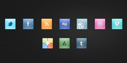 22 Fresh Social Media Icons (PSD & PNG) 5