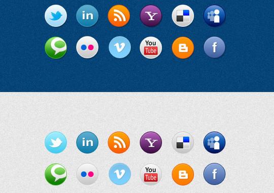 22 Fresh Social Media Icons (PSD & PNG) 10