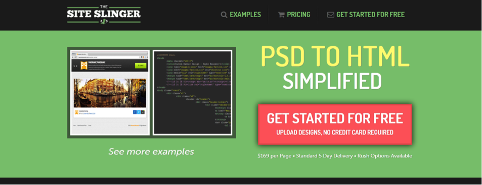 Convert Your PSD To HTML With The Site Slinger 1