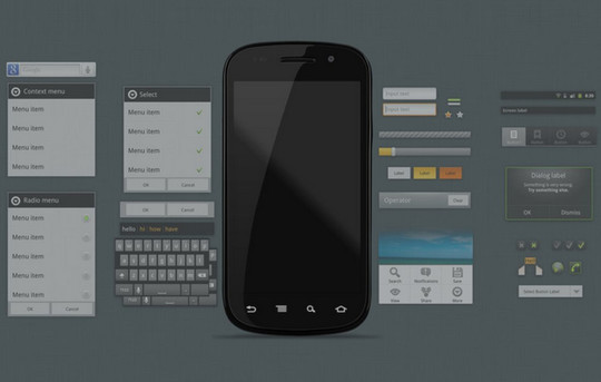 12 Useful And Free UI PSD Files For Android 6