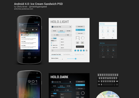 12 Useful And Free UI PSD Files For Android 2
