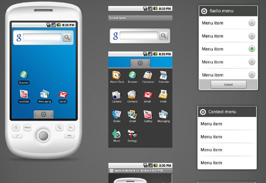 12 Useful And Free UI PSD Files For Android 3