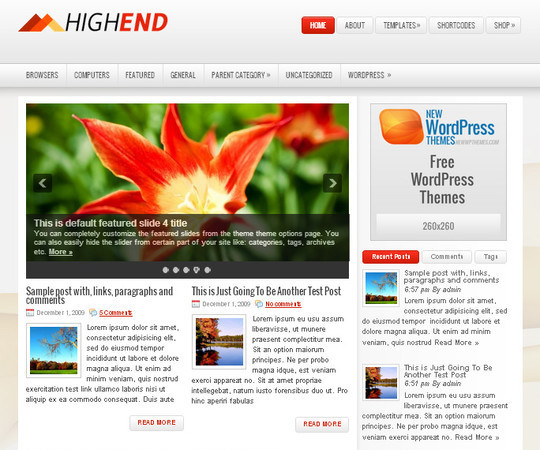 44 Premium Yet Free Wordpress Themes For Your Blog 24