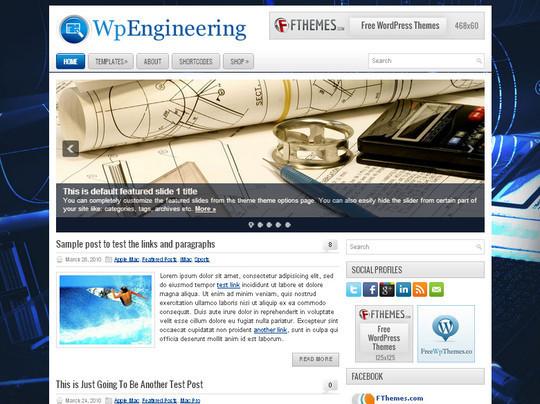 44 Premium Yet Free Wordpress Themes For Your Blog 27