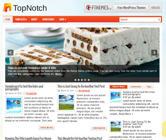 44 Premium Yet Free Wordpress Themes For Your Blog 20