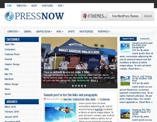 44 Premium Yet Free Wordpress Themes For Your Blog 45
