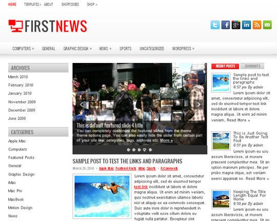 44 Premium Yet Free Wordpress Themes For Your Blog 16
