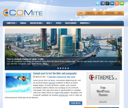 44 Premium Yet Free Wordpress Themes For Your Blog 18