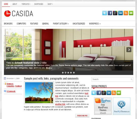 44 Premium Yet Free Wordpress Themes For Your Blog 36