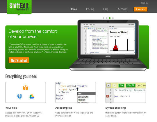 14 Online Code Editors For Web Designers And Developers 9