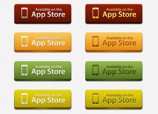 45 Free And Useful Web Buttons In PSD Format 15