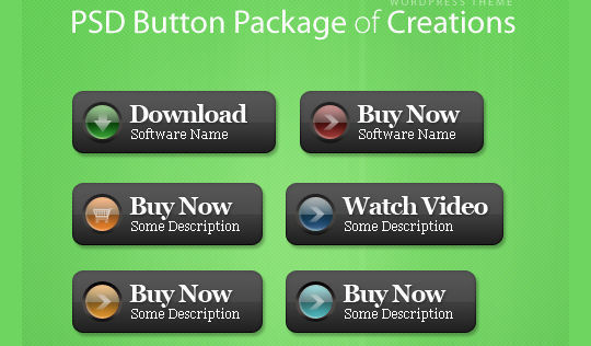 45 Free And Useful Web Buttons In PSD Format 34
